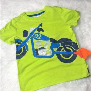 4T motorcycle shirt w/ 3D flames boys tee